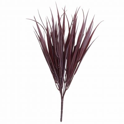 Dark Red Artificial Grass Stem