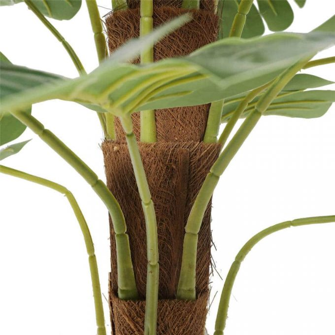 fake philodendron trunk and leaves