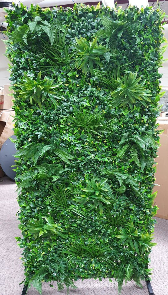 Artificial Flower Wall Green Wall Stand With Wheels 2m X 1m