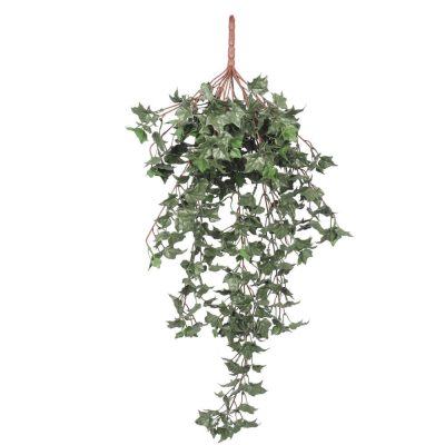 hanging artificial dark green ivy bush