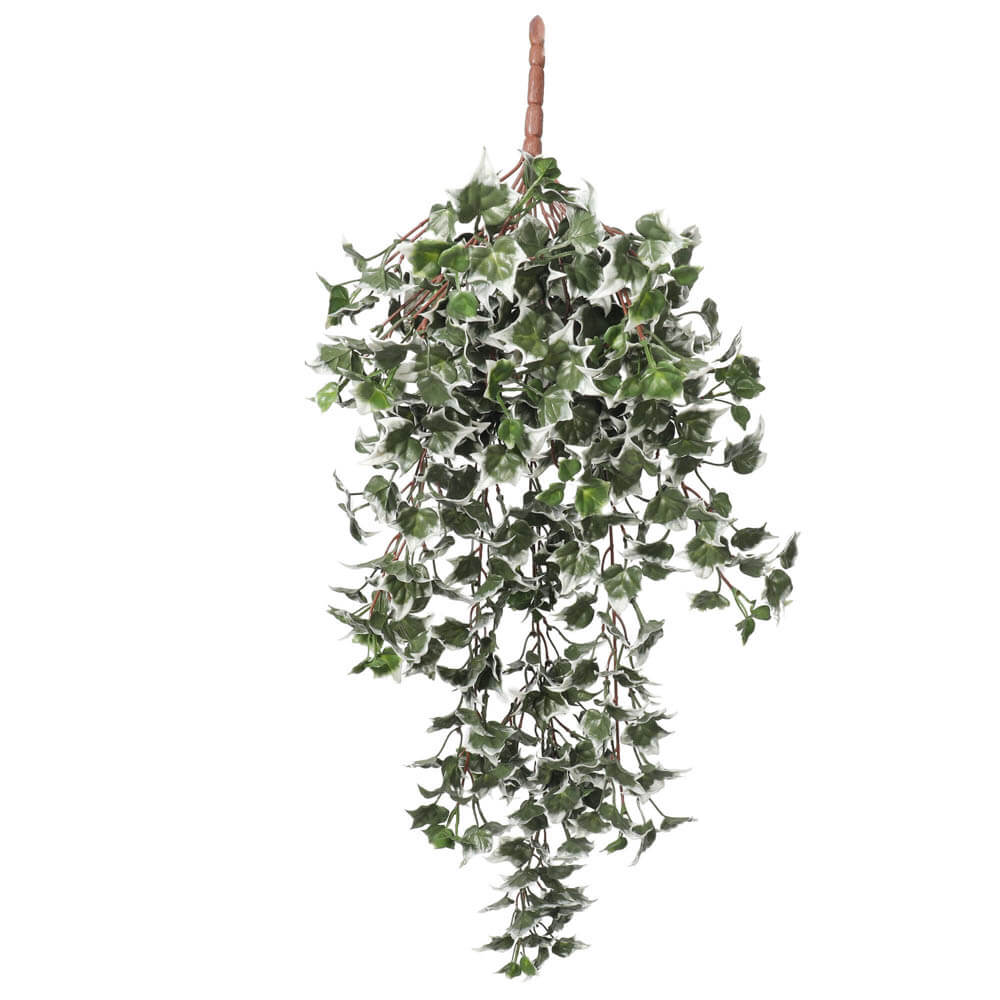 hanging artificial ivy bush with white leaves