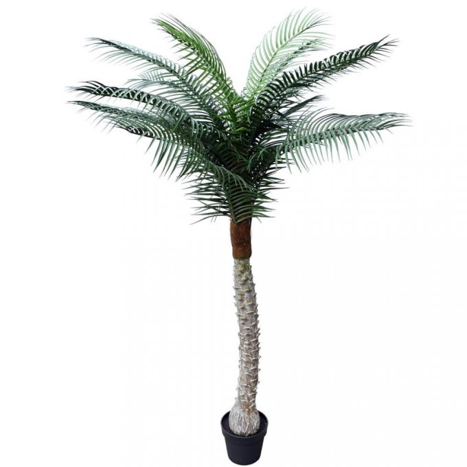 tall fake uv resistant fake palm tree