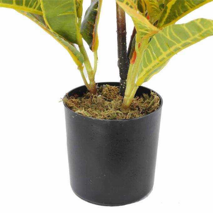 pot - artificial potted Codiaeum variegatum