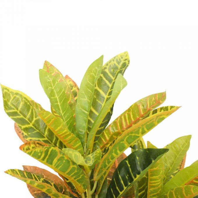 leaves and foliage - pot - artificial potted Codiaeum variegatum