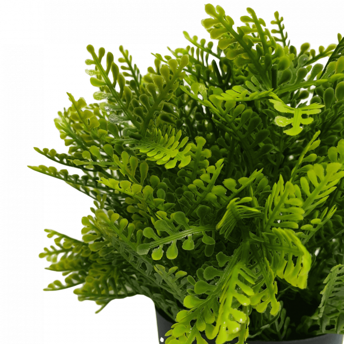 small potted faux fern