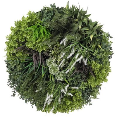 artificial flowering green wall frame