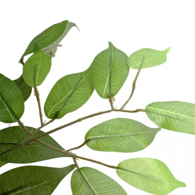 artificial leaves of faux ficus tree