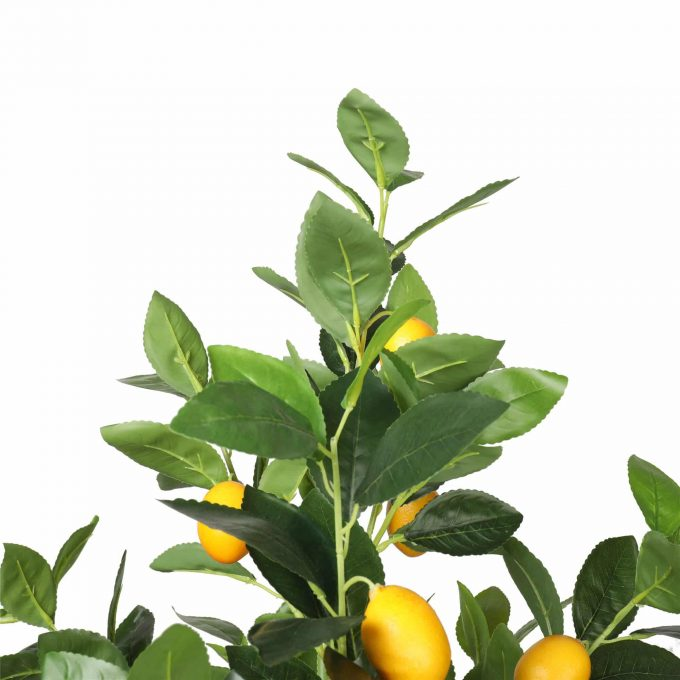 artificial lemon tree with lemons