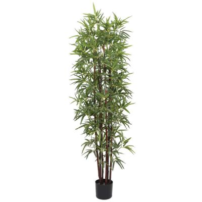dark trunk fake bamboo plant