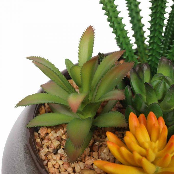 potted artificial succulent plants