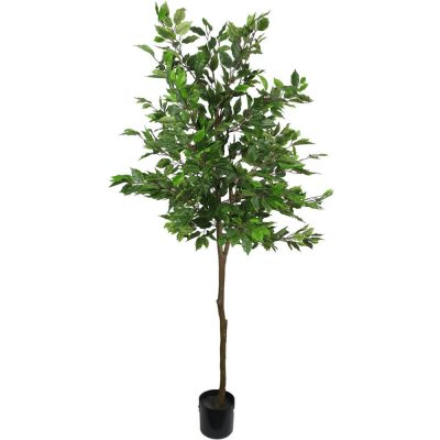 fake ficus tree potted