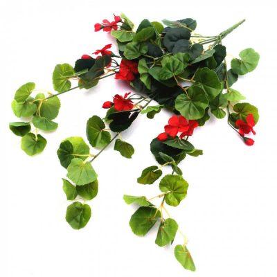 red flowering artificial geranium