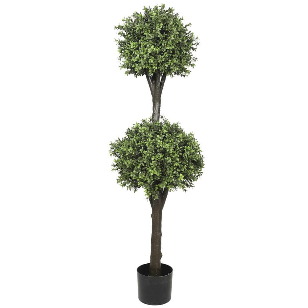 Artificial Topiary Tree 2 Ball Faux Topiary Shrub 150cm High Uv Resistant Designer Plants
