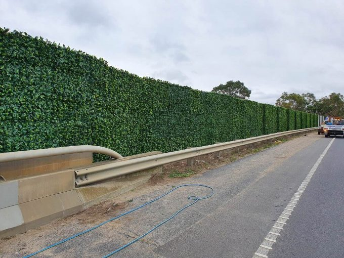 fake hedge panels