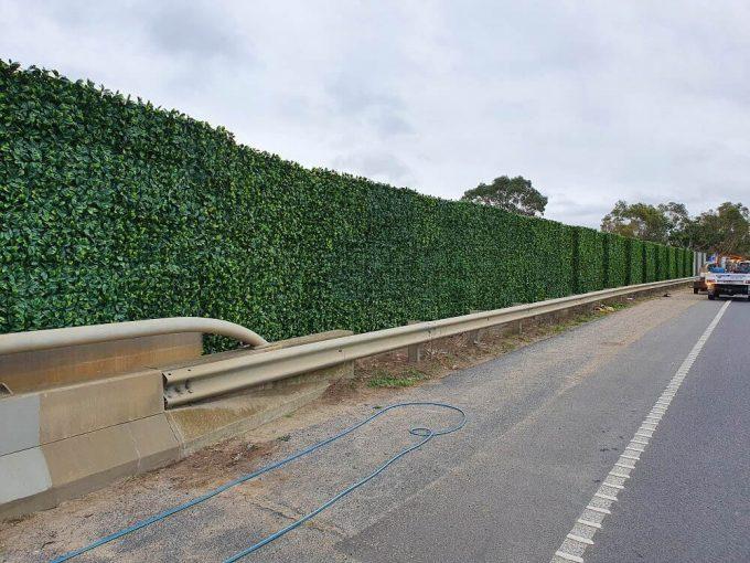 fake hedge panels