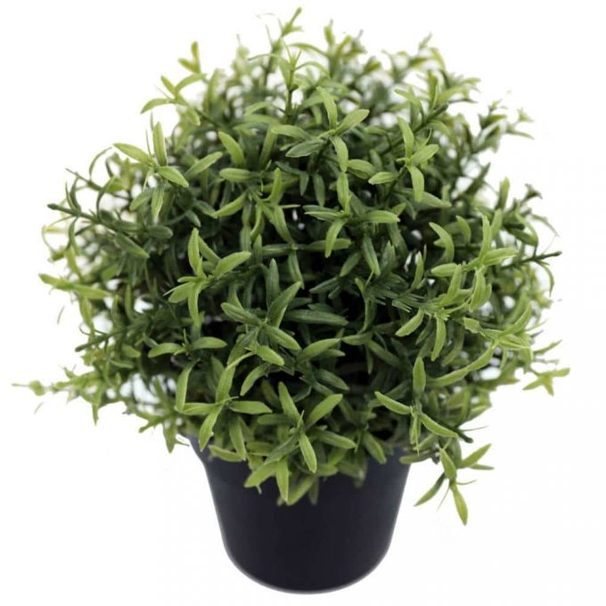 artificial potted herb rosemary plant