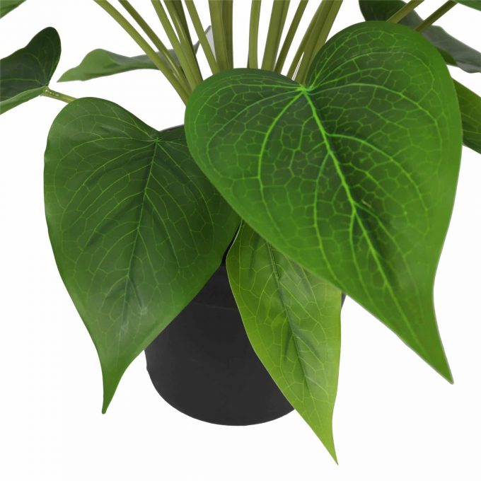 artificial peace lily plant faux leaves