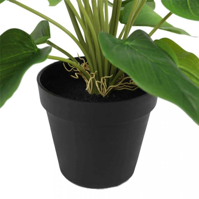 artificial peace lily plant in a pot