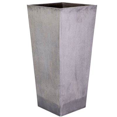 tall square plastic planter pot