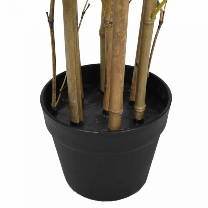 potted artificial bamboo plant