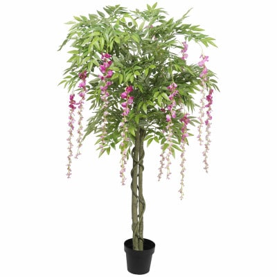 flowering artificial wisteria tree