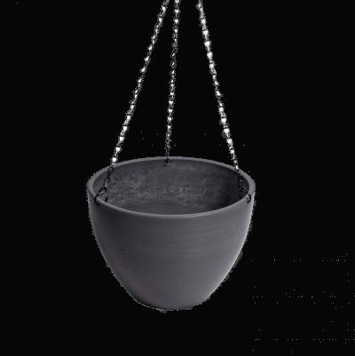 hanging grey plastic pot 9310030