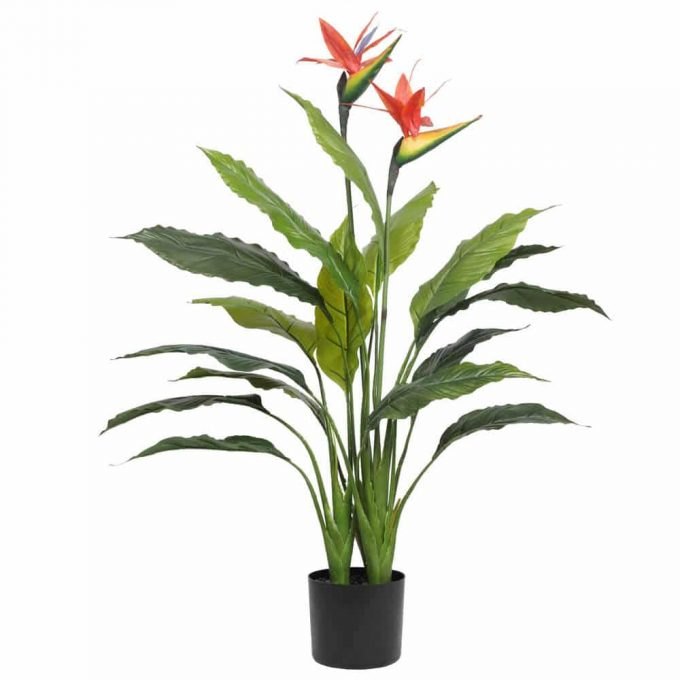 artificial bird of paradise potted plant