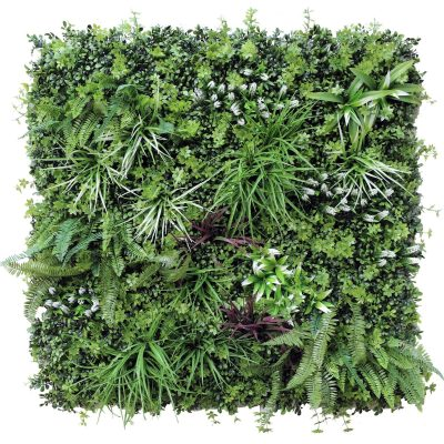 artificial vertical garden with ferns