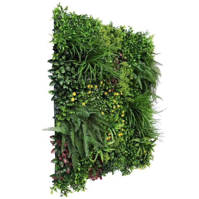 flowering artificial green wall panels with ferns