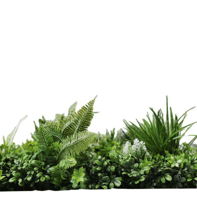 lush evergreen artificial vertical garden panel