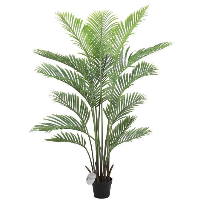 potted artificial palm tree
