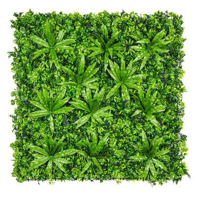 artificial lavender green wall panel