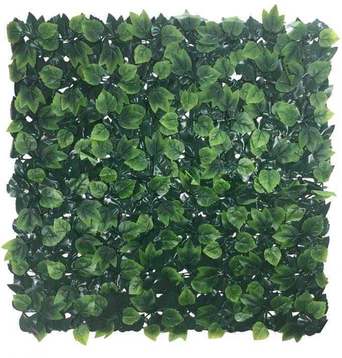 artificial hedge panel oak leaf