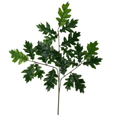 artificial oak leaves single branch