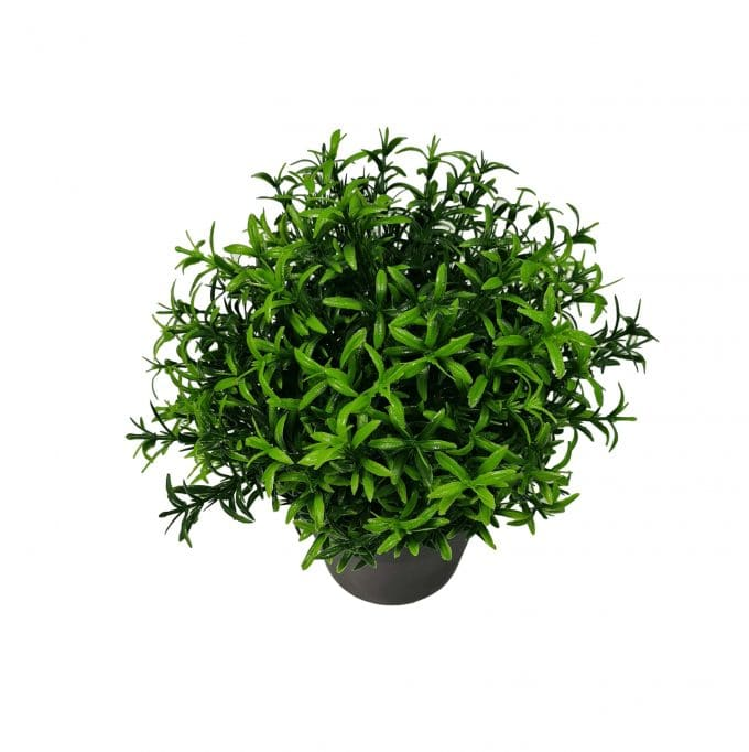 small artificial potted plant
