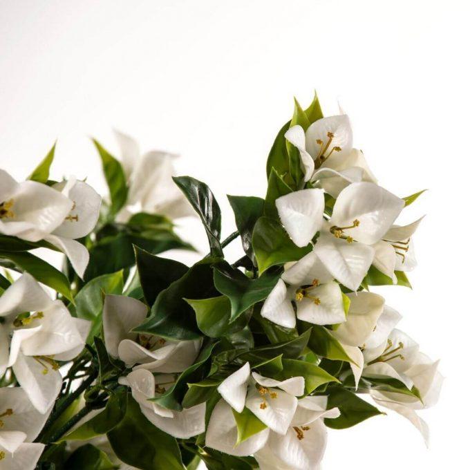 artificial bougainvillea plant white