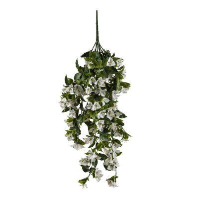 artificial hanging bougainvillea plant white