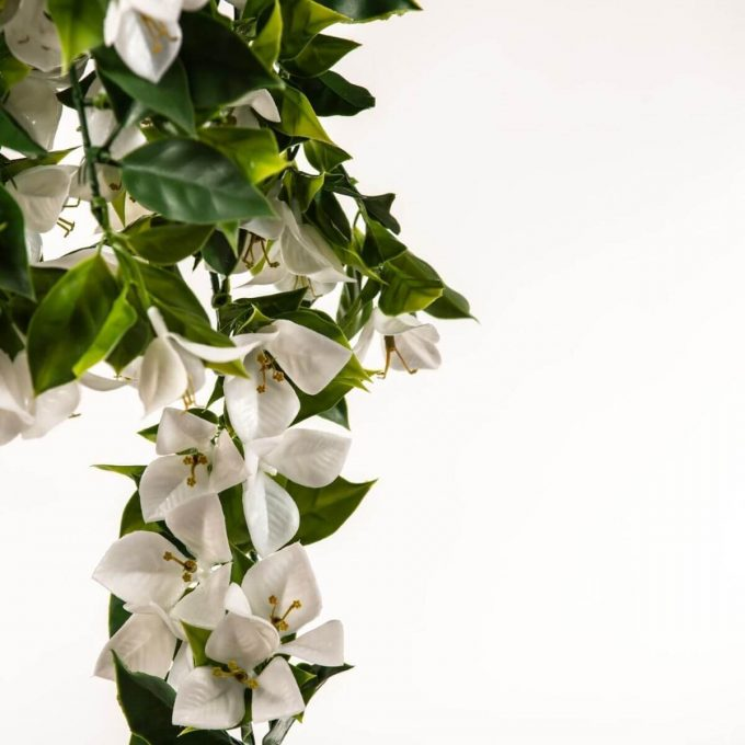 hanging garland artificial bougainvillea plant white