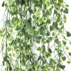 Artificial Hanging Plant With Heart Leaf Bush
