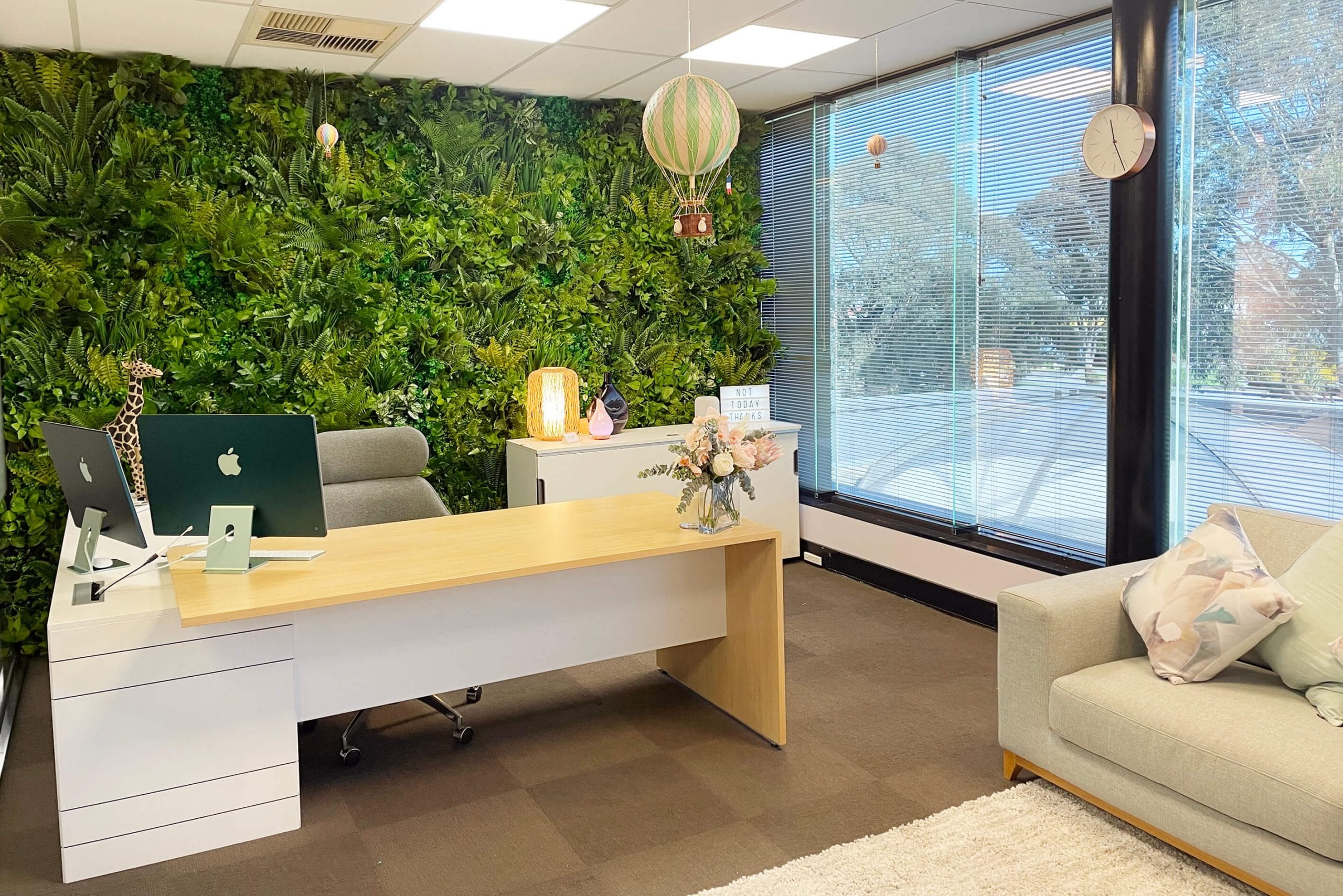 Custom made commercial green wall for a Melbourne office