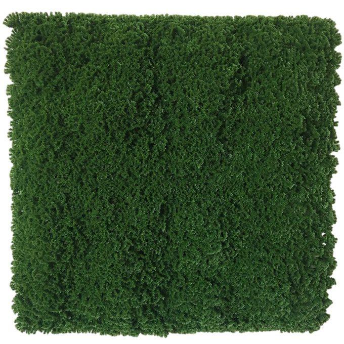 Artificial moss panel dark green fake moss