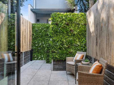 Vertical green walls add high impact without taking up floor space