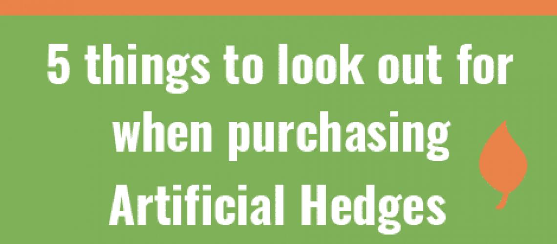 artificial hedges comparison