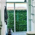 Outside Door With Green Wall Plants