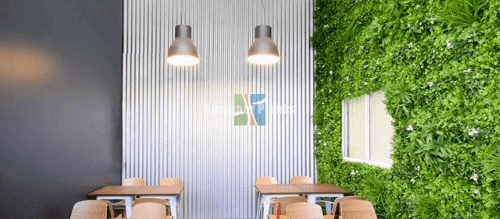 how to clean or maintain an artificial green wall